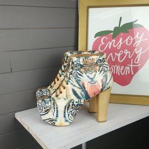 Jeffrey Campbell Lita Platform Boots Tiger Print